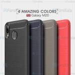 قاب محافظ ژله ای سامسونگ Fiber Carbon Rugged Armor Case For Samsung Galaxy M20