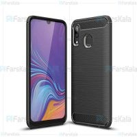 قاب محافظ ژله ای سامسونگ Fiber Carbon Rugged Armor Case For Samsung Galaxy A20
