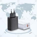 شارژر دیواری دو پورت Baseus Speed PPS QC3.0 30W USB + Type-C Adaptor
