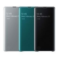 کیف هوشمند اصلی سامسونگ Clear View Cover For Samsung Galaxy S10 Plus