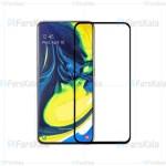 محافظ صفحه نمایش شیشه ای با پوشش کامل تمام چسب Full Glass Screen Protector For Samsung Galaxy A80