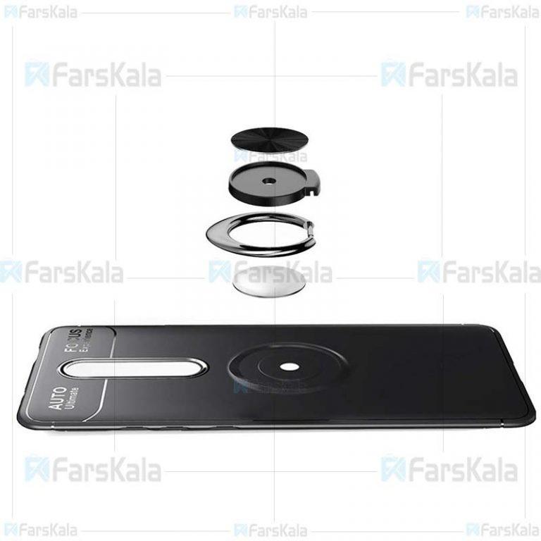 قاب ژله ای طرح چرم انگشتی شیائومی Becation A.F Magnetic Ring For Xiaomi Redmi K20 / K20 Pro