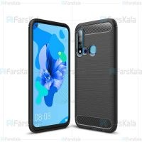 قاب محافظ ژله ای هواوی Fiber Carbon Rugged Armor Case For Huawei Nova 5i / P20 Lite 2019