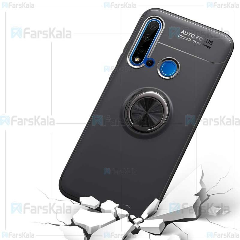 قاب محافظ ژله ای هواوی Becation A.F Magnetic Ring Case For Huawei Nova 5i / P20 Lite 2019