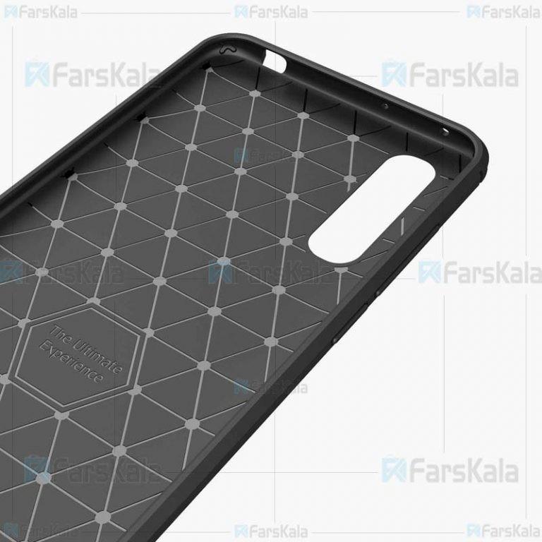 قاب محافظ ژله ای شیائومی Fiber Carbon Rugged Armor Case For Xiaomi Mi CC9