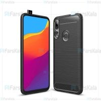 قاب محافظ ژله ای هواوی Fiber Carbon Rugged Armor Case For Huawei Y9 Prime 2019