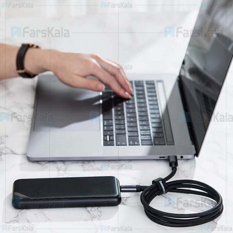 کابل سریع تایپ سی بیسوس Baseus Cafule PD3.1 100W Type-C Cable 1m