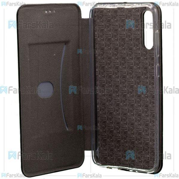 کیف محافظ چرمی سامسونگ Leather Standing Magnetic Cover For Samsung Galaxy A50