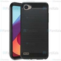 قاب محافظ ژله ای ال جی Fiber Carbon Rugged Armor Case For LG Q6