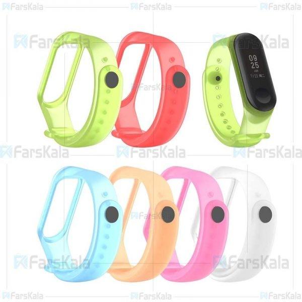 بند سیلیکونی دستبند سلامتی شیائومی Xiaomi Mi Band 4 Transparent Silicone Band