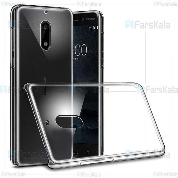 قاب محافظ شیشه ای نوکیا Clear Crystal Cover For Nokia 6