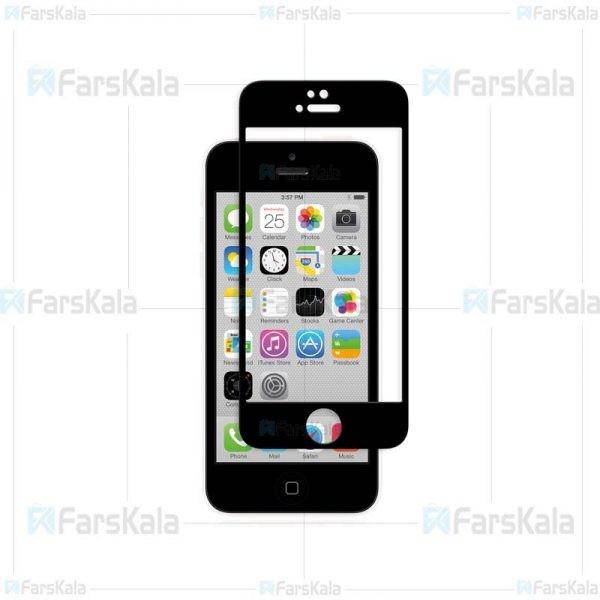 محافظ صفحه نمایش تمام چسب با پوشش کامل Full Glass Screen Protector For Apple iphone 5 & 5S