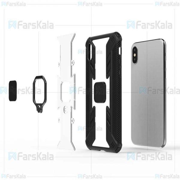 قاب محافظ انگشتی اپل Armor Ring 360 Case Apple iPhone X / XS