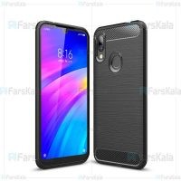 قاب محافظ ژله ای شیائومی Fiber Carbon Rugged Armor Case For Xiaomi Redmi 7