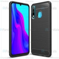 قاب محافظ ژله ای هواوی Fiber Carbon Rugged Armor Case For Huawei P30 lite / Nova 4e