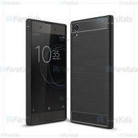 قاب محافظ ژله ای سونی Fiber Carbon Rugged Armor Case For Sony Xperia XA1 Plus