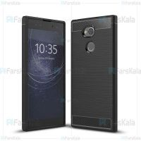 قاب محافظ ژله ای سونی Fiber Carbon Rugged Armor Case For Sony Xperia XA2 Ultra