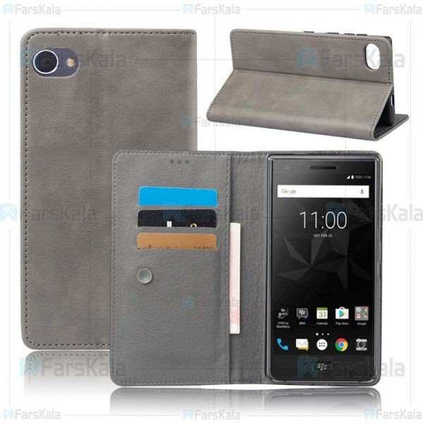 کیف طرح چرم بلک بری Leather Cover For BlackBerry Motion