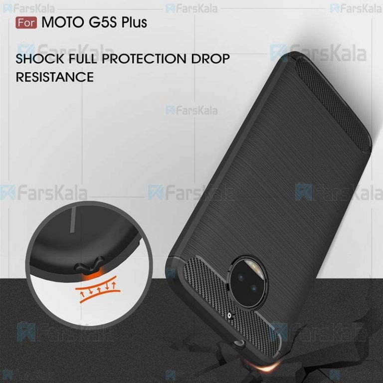 قاب محافظ ژله ای موتورولا Fiber Carbon Rugged Armor Case For Motorola Moto G5S Plus