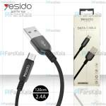 کابل میکرو یو اس بی یسیدو با توان 2.4 آمپر Yesido CA-25 Micro USB Cable