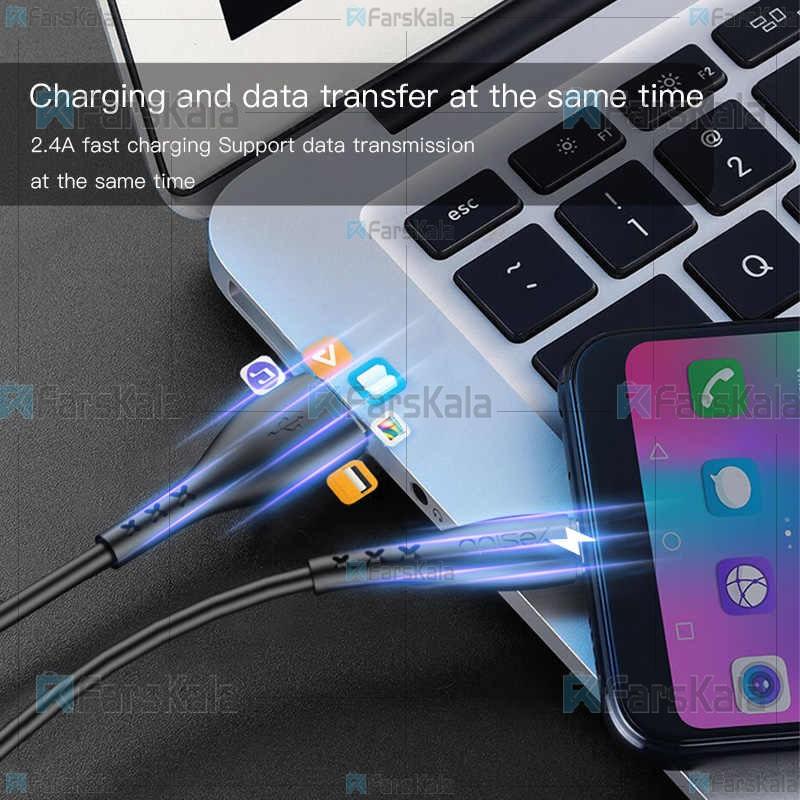 کابل میکرو یو اس بی یسیدو با توان 2.4 آمپر Yesido CA26 Micro USB Cable