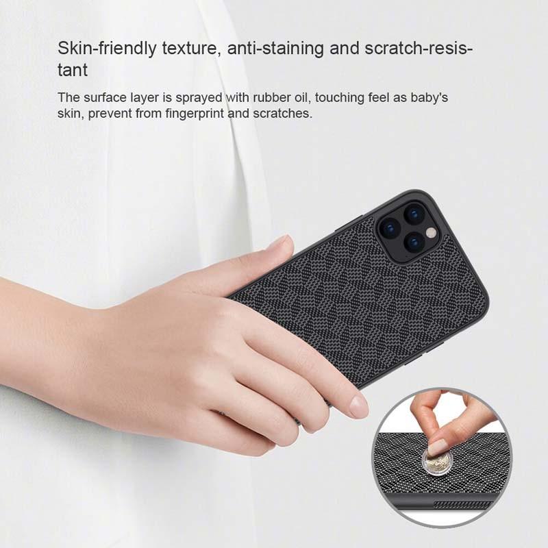 قاب محافظ فیبر نیلکین اپل Nillkin Synthetic Fiber Plaid Case Apple iPhone 11 5.8