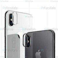 محافظ لنز و سوزن سیمکارت آیفون Coteetci Apple iPhone X Camera Protection Ring