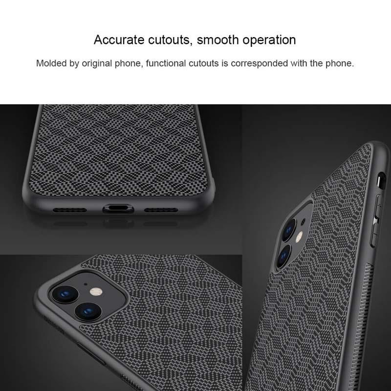 قاب محافظ فیبر نیلکین اپل Nillkin Synthetic Fiber Plaid Case Apple iPhone 11 6.1