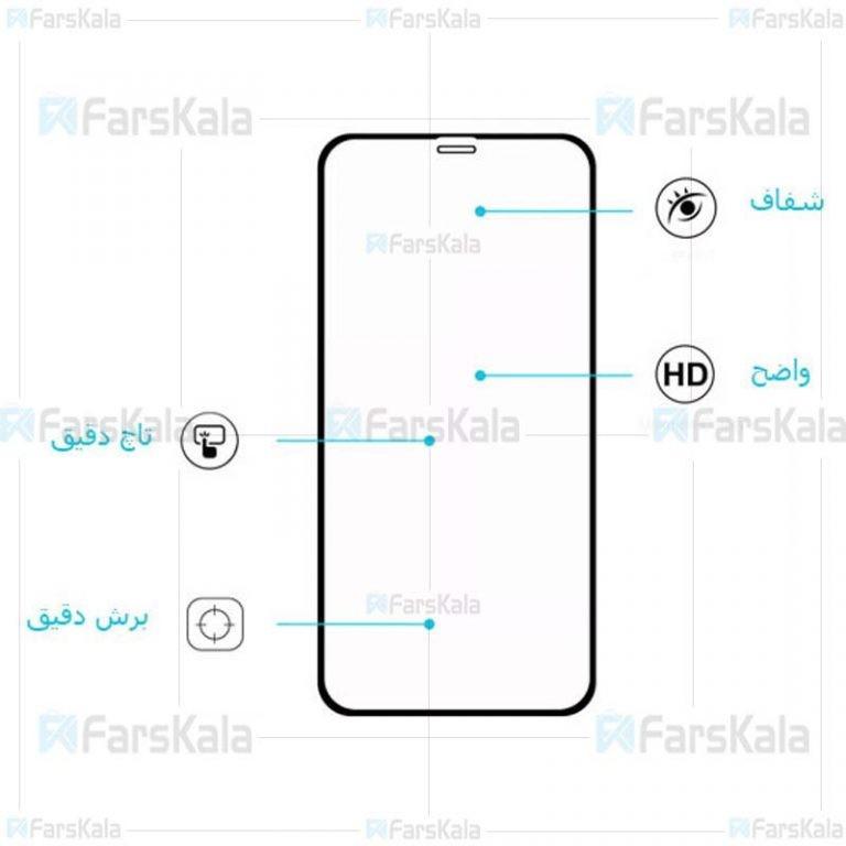 محافظ صفحه نمایش سرامیکی تمام صفحه آیفون Ceramics Full Screen Protector Apple iPhone XS Max