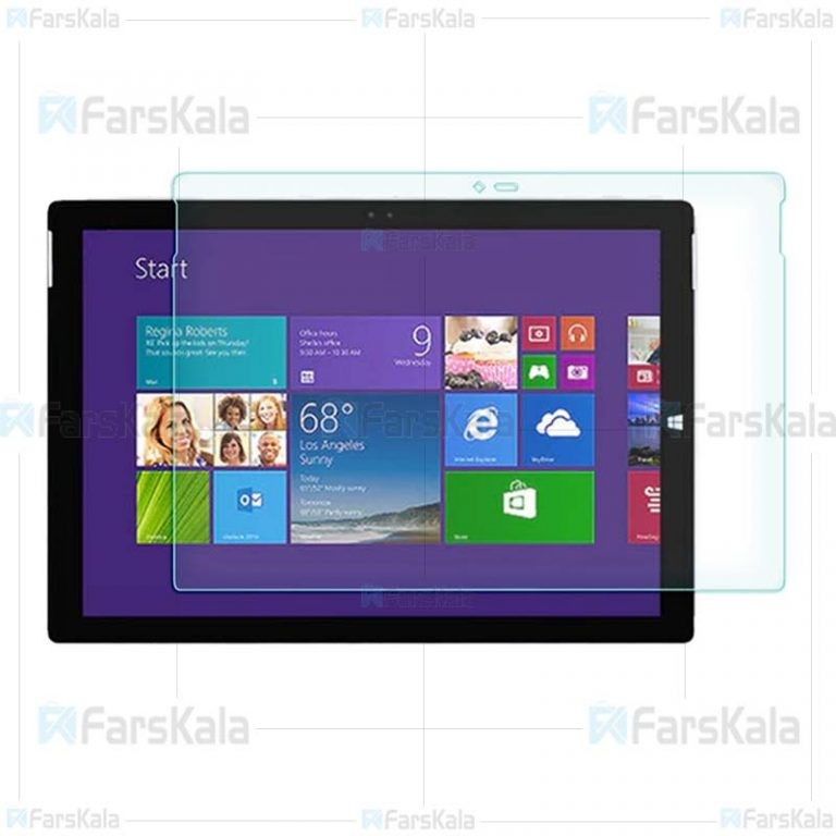 محافظ صفحه نمایش شیشه ای مایکروسافت Glass Screen Protector For Microsoft Surface Pro 3