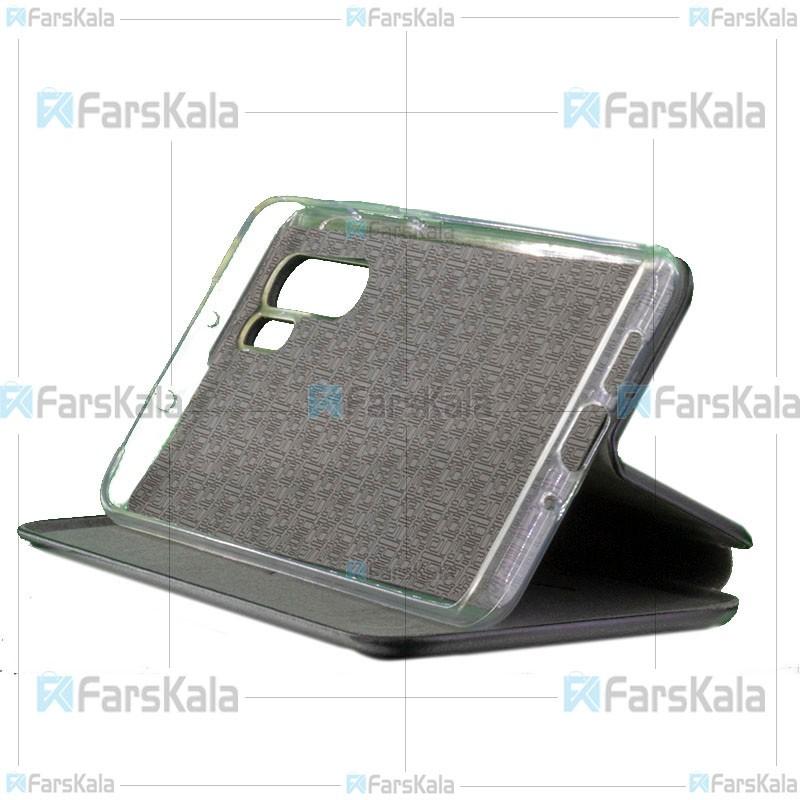 کیف محافظ چرمی هواوی Leather Standing Magnetic Cover For Huawei P30 Pro