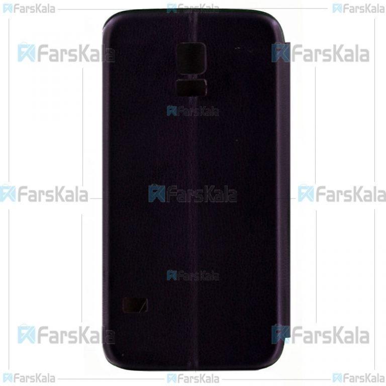 کیف محافظ چرمی سامسونگ Leather Standing Magnetic Cover For Samsung Galaxy S5