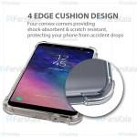 قاب محافظ ژله ای کپسول دار 5 گرمی سامسونگ Clear Tpu Air Rubber Jelly Case For Samsung Galaxy A6 Plus 2018