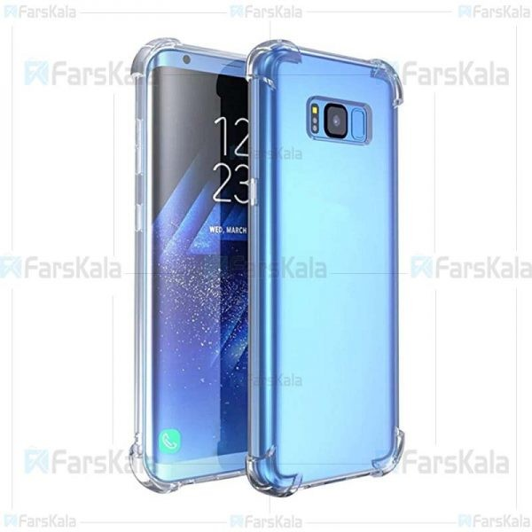 قاب محافظ ژله ای کپسول دار 5 گرمی سامسونگ Clear Tpu Air Rubber Jelly Case For Samsung Galaxy S8