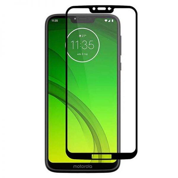محافظ صفحه نمایش تمام چسب با پوشش کامل موتورولا Full Glass Screen Protector For Motorola Moto G7