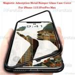 قاب محافظ مگنتی اپل Glass Magnetic 360 Case Apple iPhone 11 Pro Max