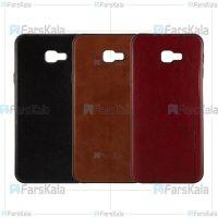 قاب طرح چرم هوانمین سامسونگ Huanmin Leather Case Samsung Galaxy J4 Plus