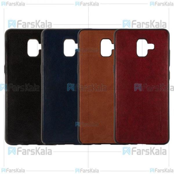 قاب طرح چرم هوانمین سامسونگ Huanmin Leather Case Samsung Galaxy J6 PLUS