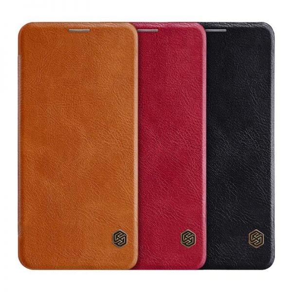 کیف محافظ چرمی نیلکین سامسونگ Nillkin Qin Case For Samsung Galaxy A60