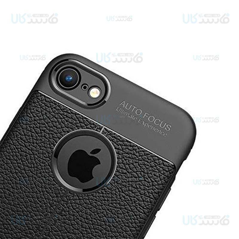 قاب ژله ای طرح چرم اپل Auto Focus Jelly Case For Apple iPhone 7 8
