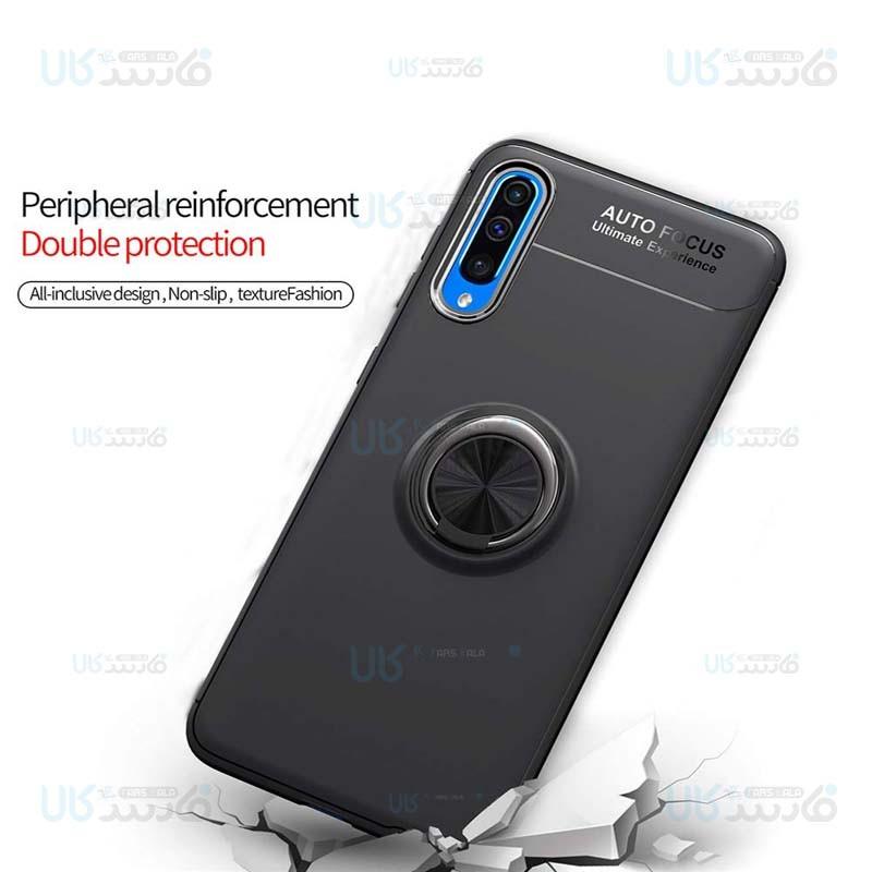 قاب ژله ای طرح چرم انگشتی سامسونگ Becation A.F Magnetic Ring For Samsung Galaxy A10s
