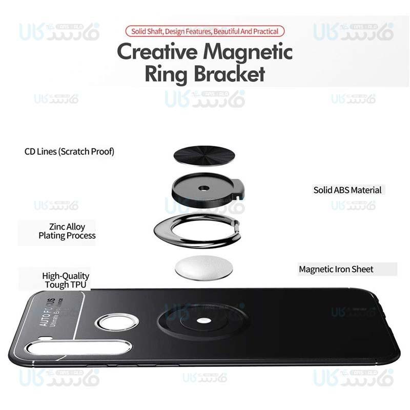 قاب ژله ای طرح چرم انگشتی شیائومی Becation A.F Magnetic Ring For Xiaomi Redmi Note 8T
