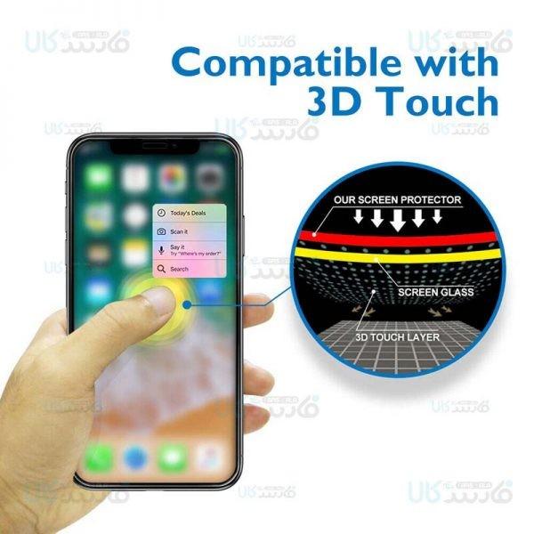 محافظ صفحه نمایش مات تمام چسب با پوشش کامل اپل Full Matte Glass Screen Protector For Apple iPhone 11 / XR