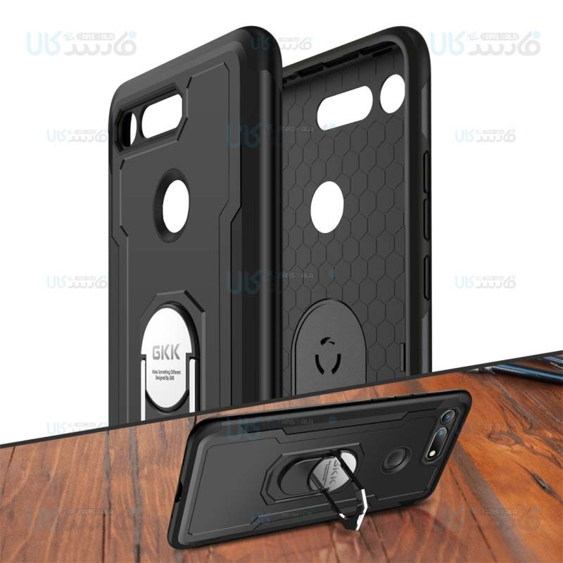 قاب محافظ انگشتی هواوی GKK Armor Ring 360 Case Huawei Nova 4 Honor View 20