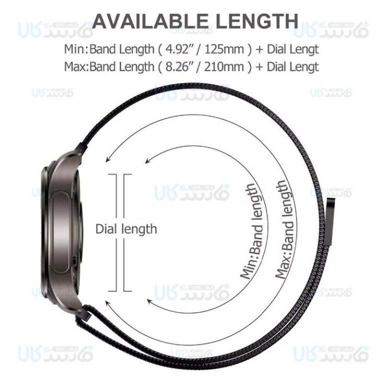 بند فلزی آهن ربایی ساعت هوشمند سامسونگ Milanese Magnetic Loop Band For Samsung Galaxy Watch 42MM