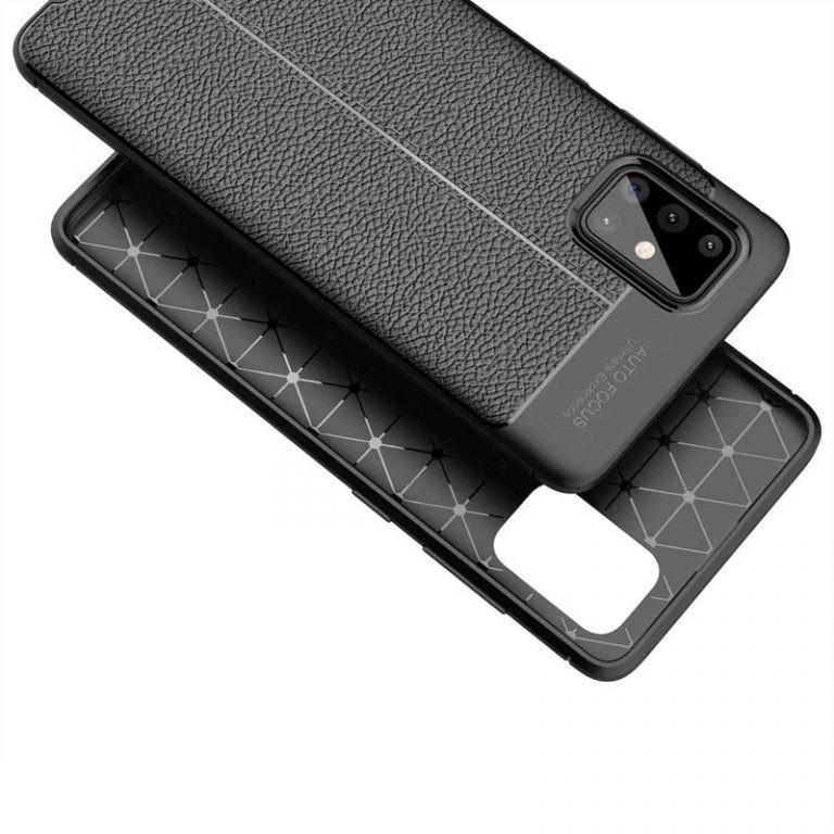 قاب ژله ای طرح چرم سامسونگ Auto Focus Jelly Case For Samsung Galaxy A71