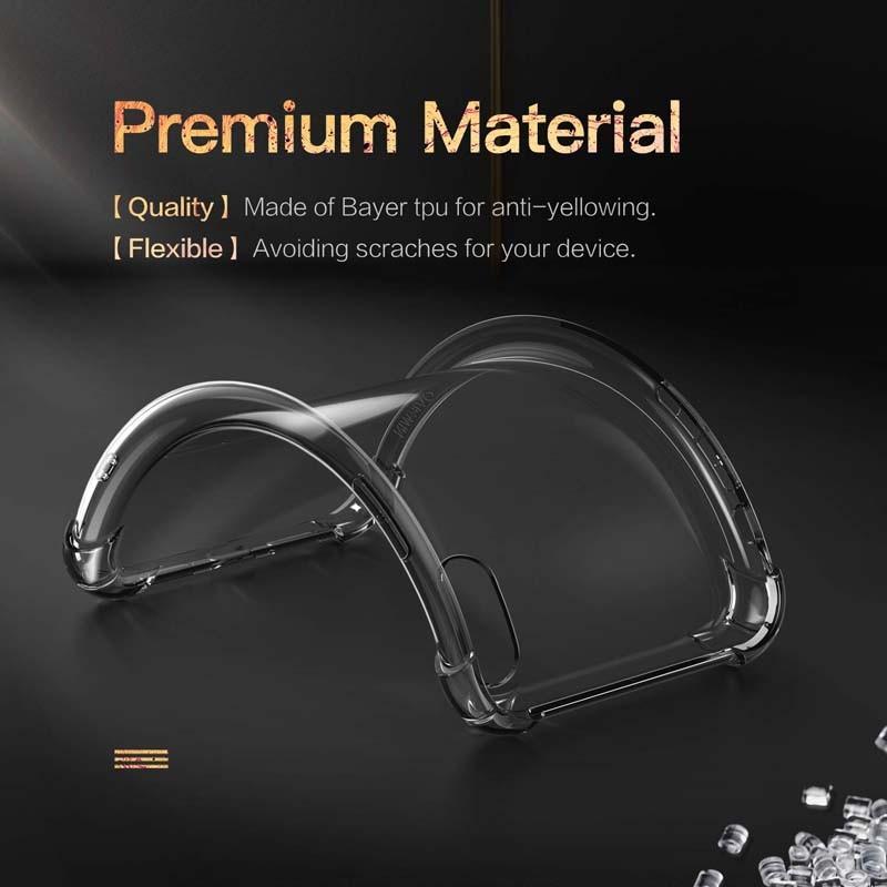 قاب محافظ ژله ای کپسول دار 5 گرمی اپل Clear Tpu Air Rubber Jelly Case For Apple iPhone X XS