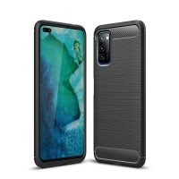 قاب محافظ ژله ای هواوی Fiber Carbon Rugged Armor Case For Huawei Honor V30