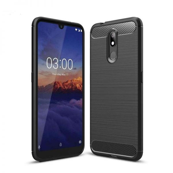 قاب محافظ ژله ای نوکیا Fiber Carbon Rugged Armor Case For Nokia 3.2