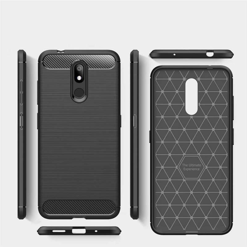 قاب محافظ ژله ای نوکیا Fiber Carbon Rugged Armor Case For Nokia 3.2